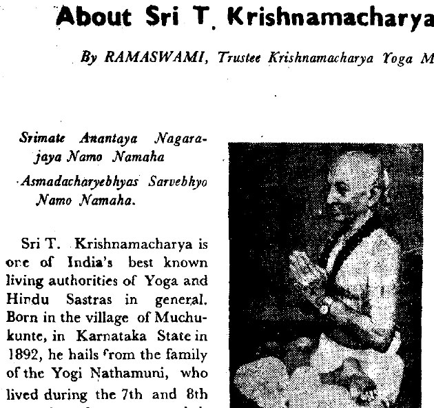 An Indian Review biographical article by Srivatsa Ramaswami