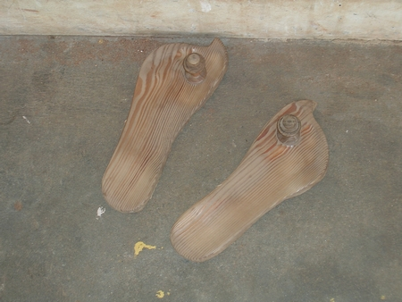 Padukas - wooden sandals of Sri P.Swamigal