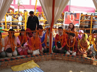 Japanese devotees in the camp of Pilot Baba